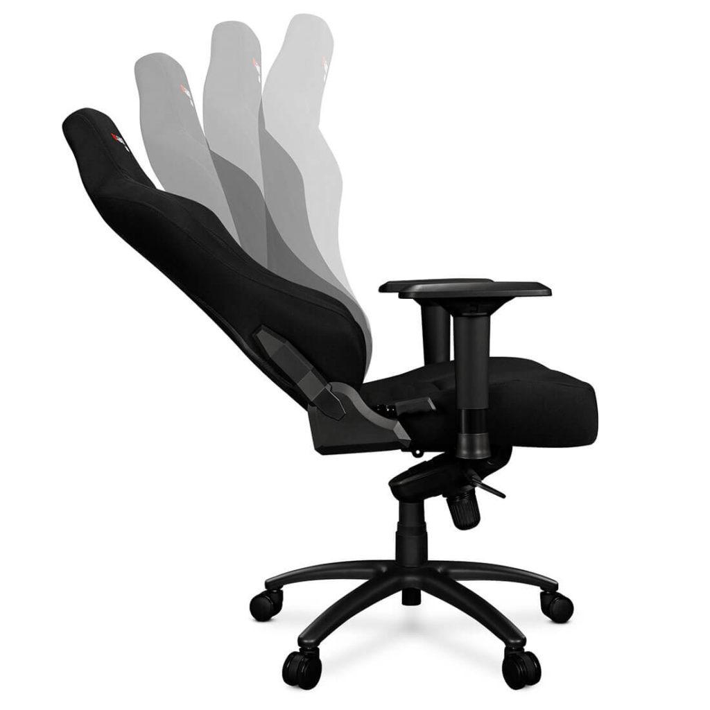 Fotel gamingowy GORGON materiał czarny