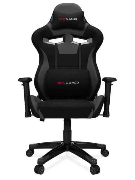 Fotel gamingowy AGURI+ szary materiał